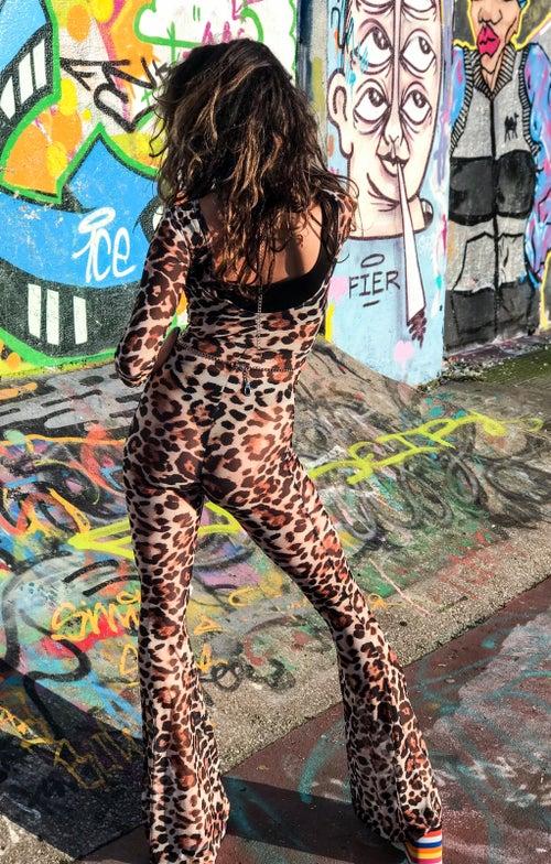 Image of Bebe jumpsuit - Leopard
