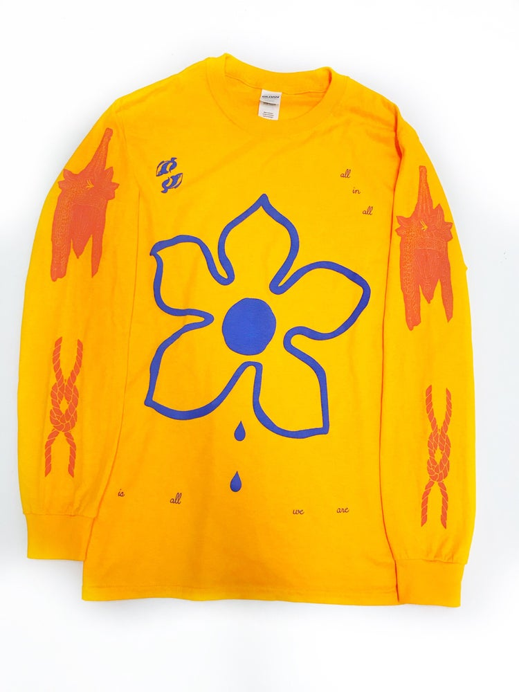 Image of 'Pisces' long sleeve T (gold)