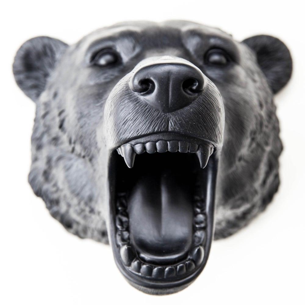 Image of Boris the bear - resin wall art (cosmic black)