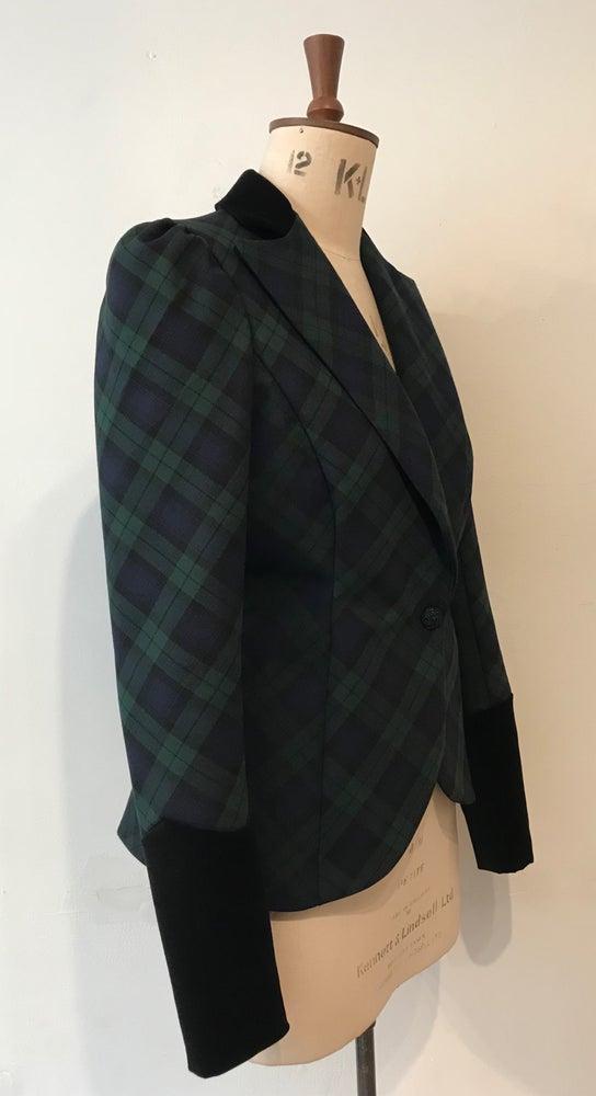 Image of Tartan and velvet Bustle Jacket