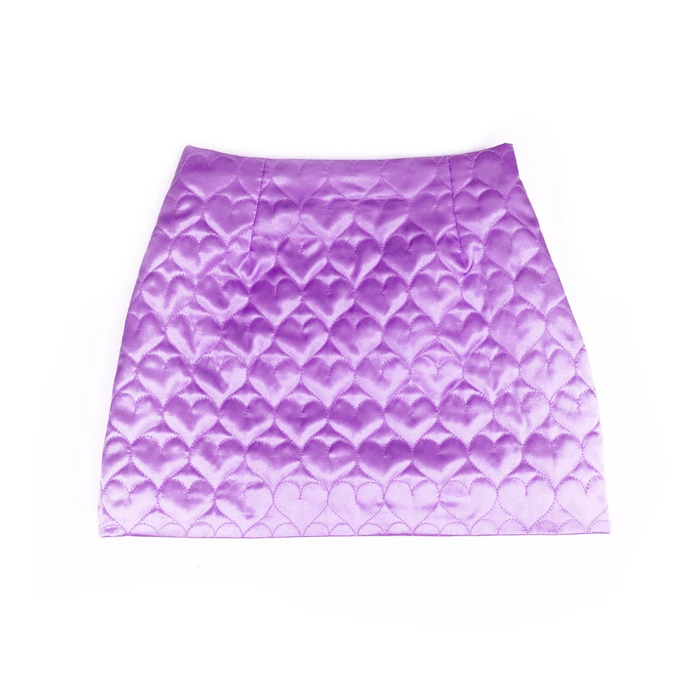 Image of SWEETHEART MINI SKIRT (PURPLE)