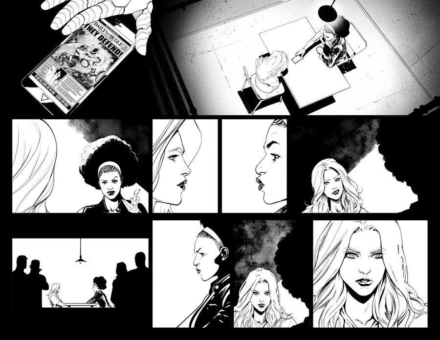 Image of DEFENDERS #10, p.10-11 ARTIST'S PROOF