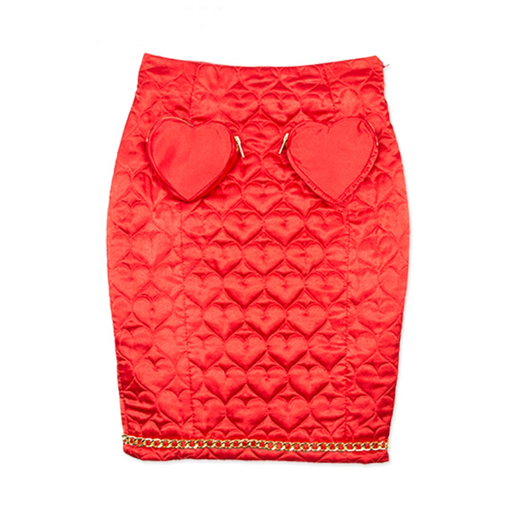 Image of HEART PURSE POCKET PENCIL SKIRT
