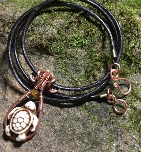 Image of Basic Copper Wire-Wrapped Pendant & Necklace Class by Jennifer Tuschong