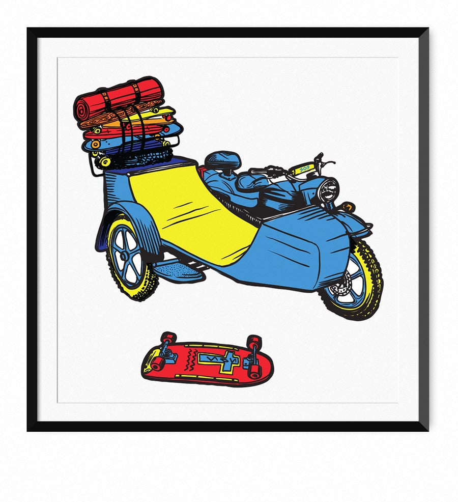 Image of Skate-Ramp-Side-Car - Limited run of 50!