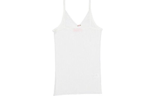 Image of White rib camisole