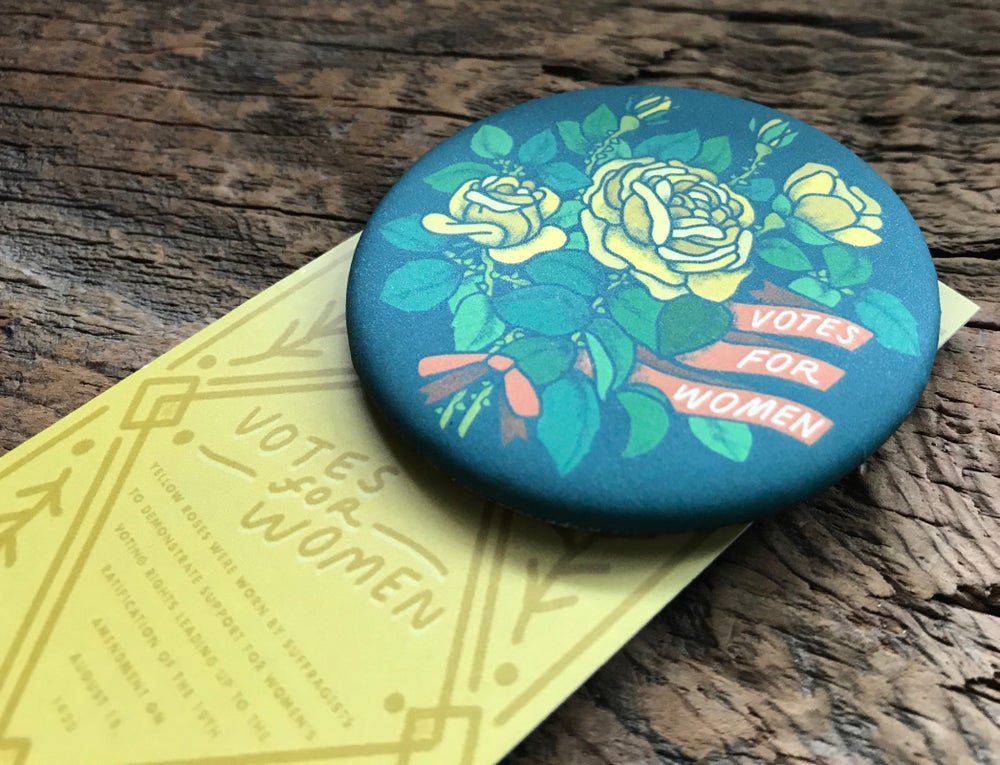 Image of Votes for Women - Pinback Button