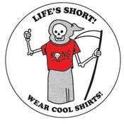 Image of Wear Cool Shirts! Sticker