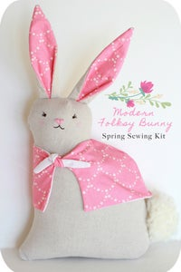 Image of Modern Folksy Bunny Spring Sewing Kit 2018