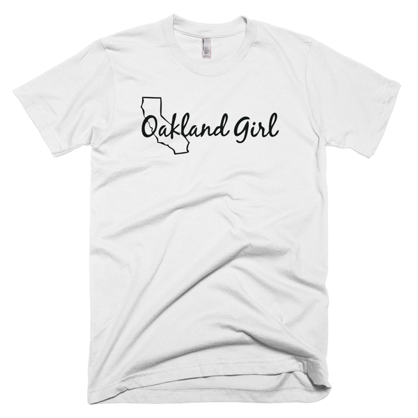 Image of White & Black Oakland Girl Tee