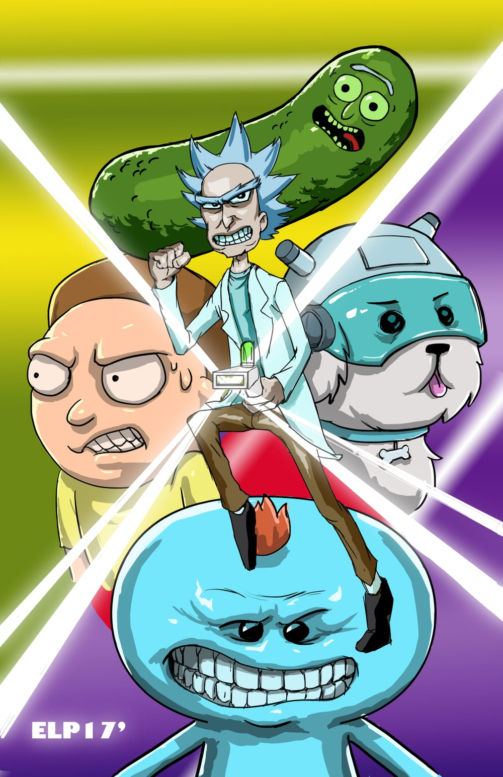 Image of Rick and Morty Universe Print