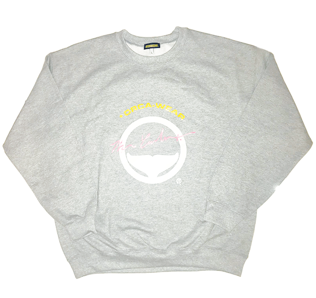 Image of Orca tail Logo Crewneck Sweater Gray