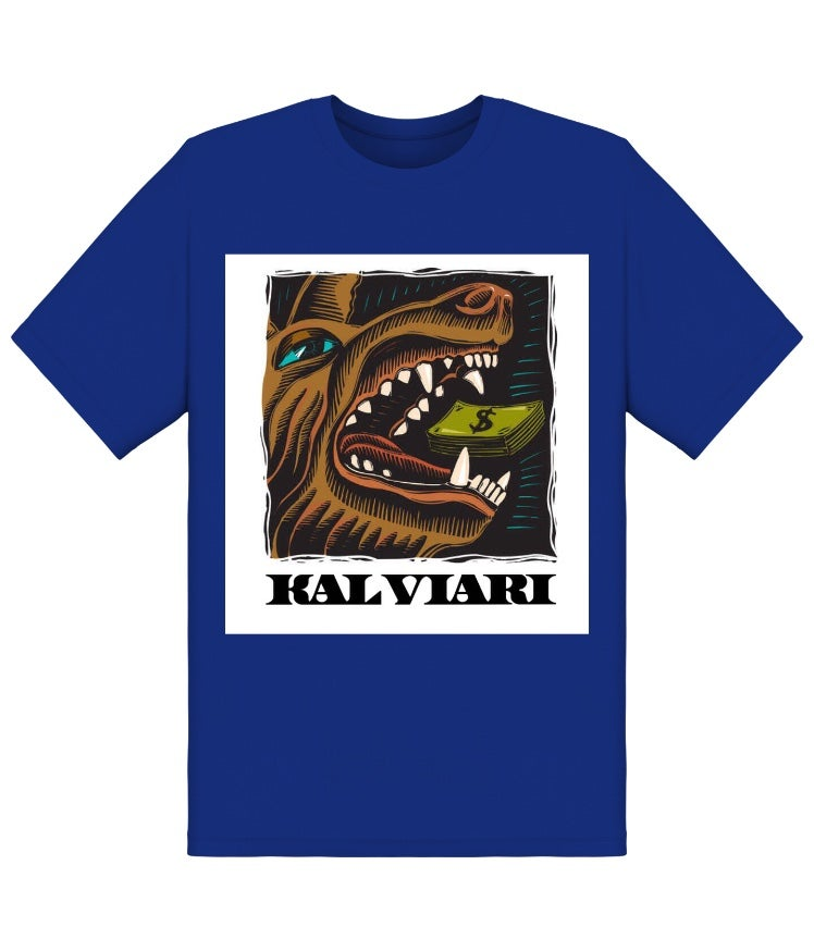 Image of KALVIARI WOLF OF ALL STREETS TSHIRT