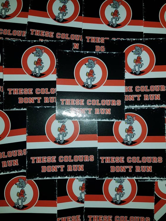 Image of Larne FC, These Colours Don't Run New Football Ultras Stickers 7x7cm 25 pack.