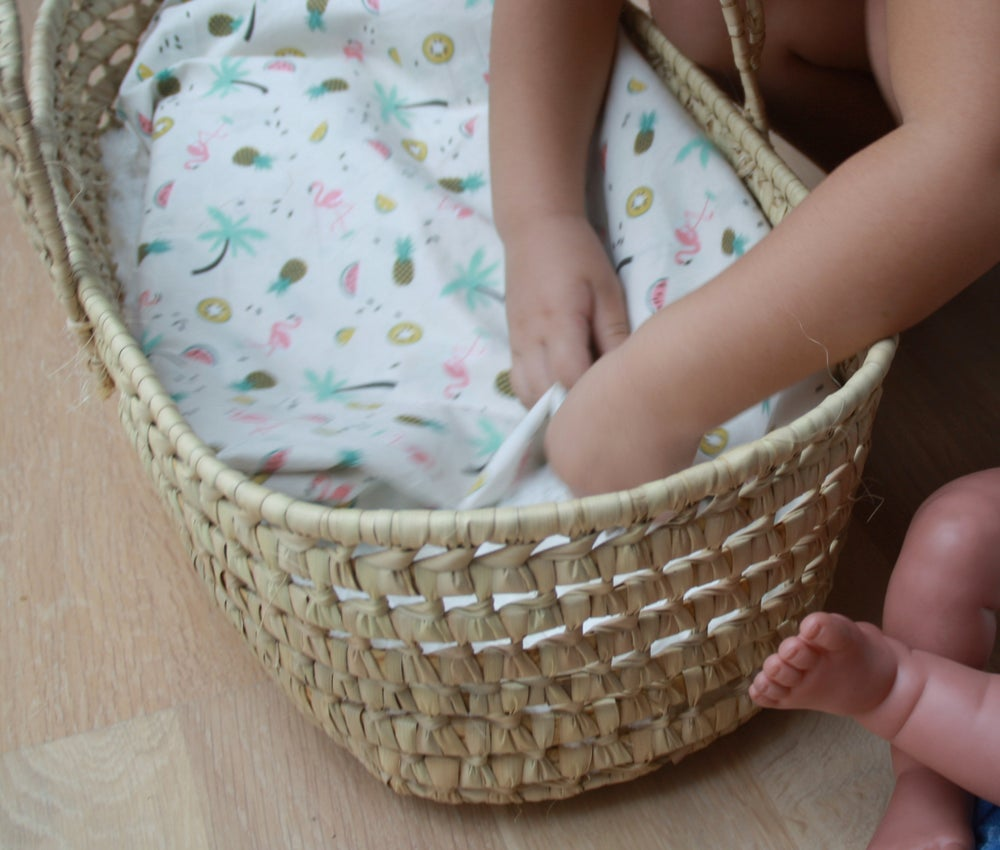 Image of Capazo mimbre para muñecas