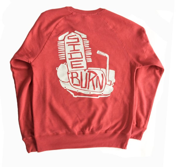 Image of Engine Crewneck Sweat Shirt - Californian Sun-faded Red