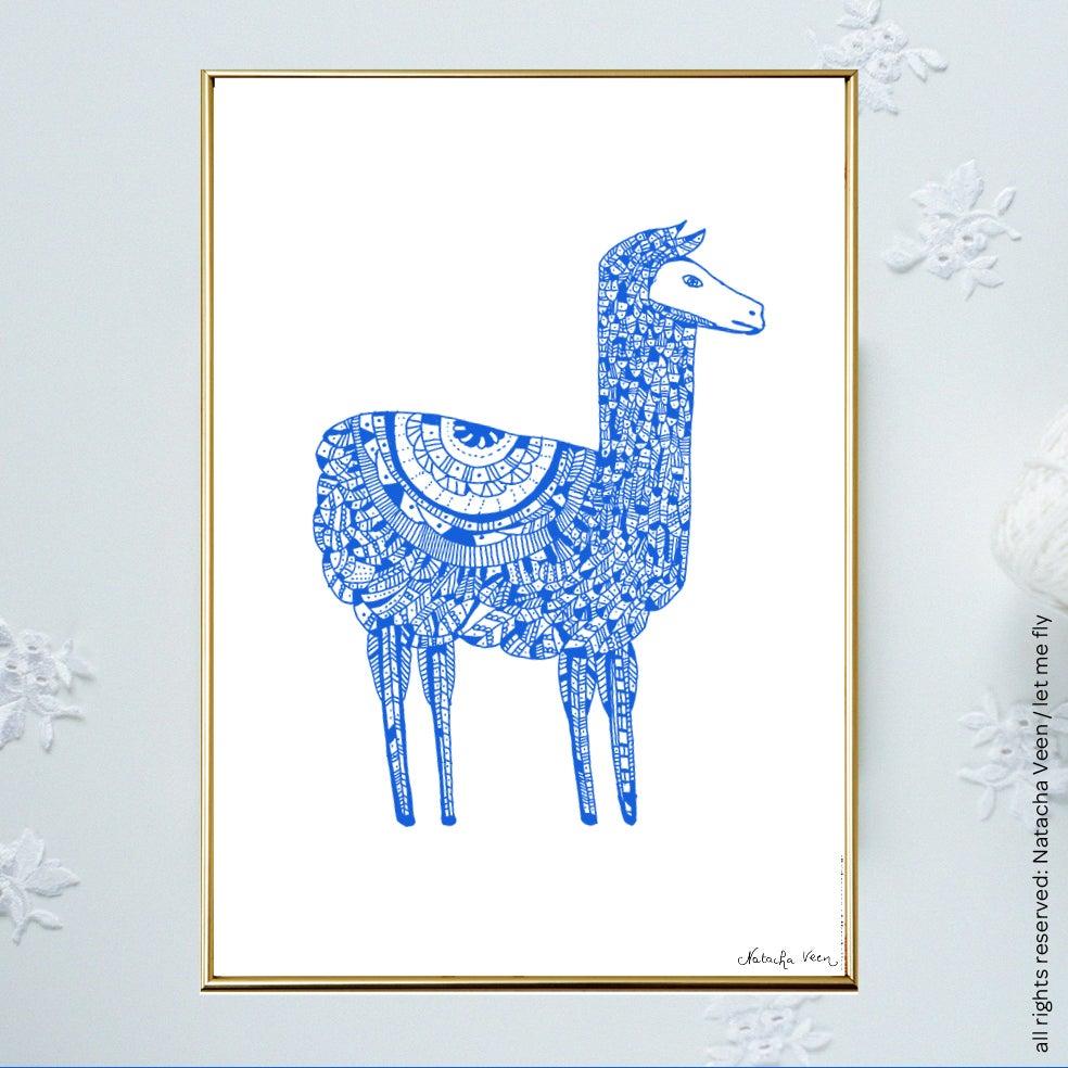 Image of Blue *Lama*_A4