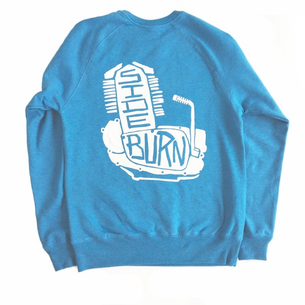 Image of Engine Crewneck Sweat Shirt - Sky Blue
