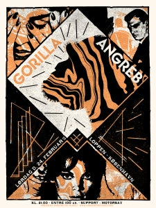 Image of GORILLA ANGREB (2018) screenprinted poster