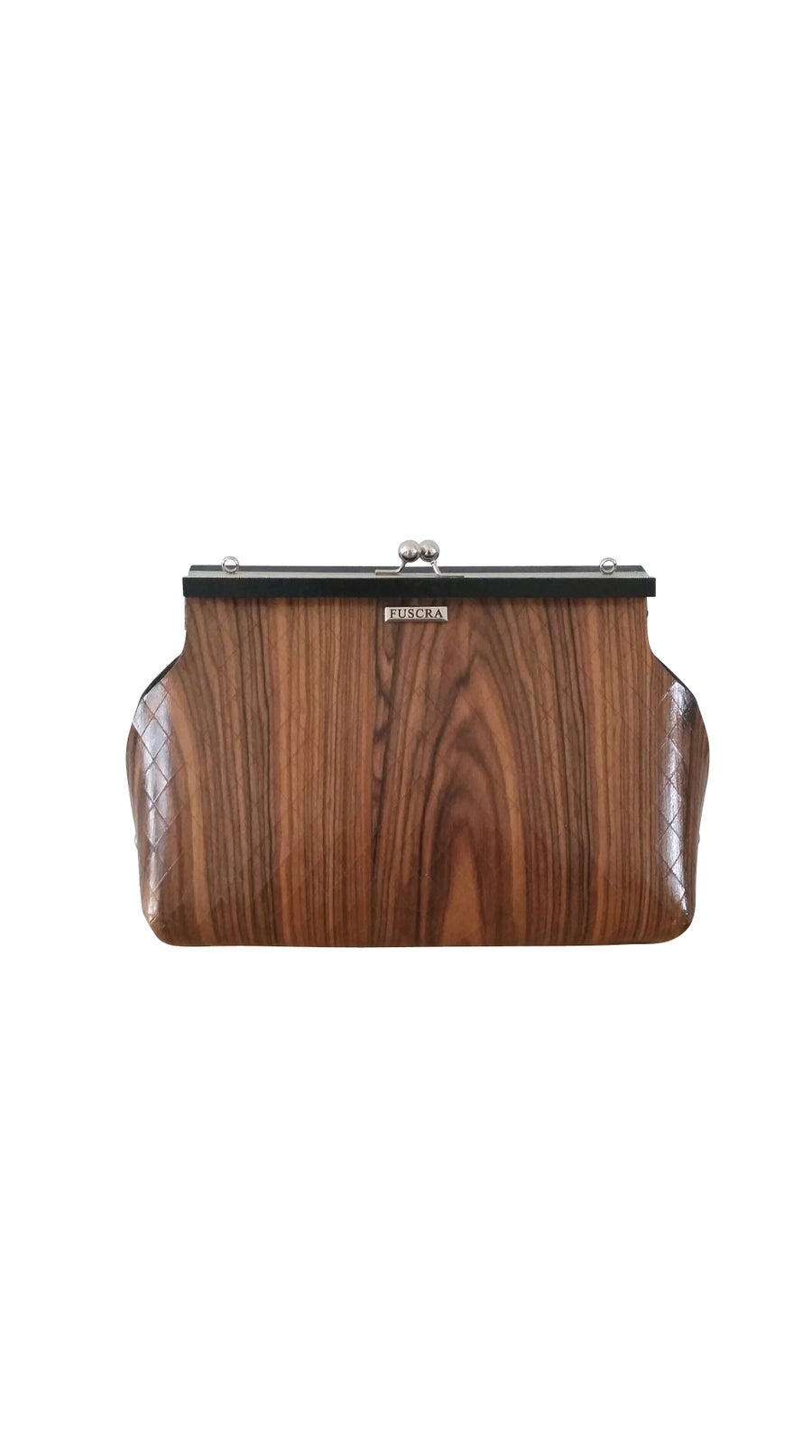 Image of BAG IN WOOD SOPHIA - SIZE M AND L - ROSEWOOD COLOR