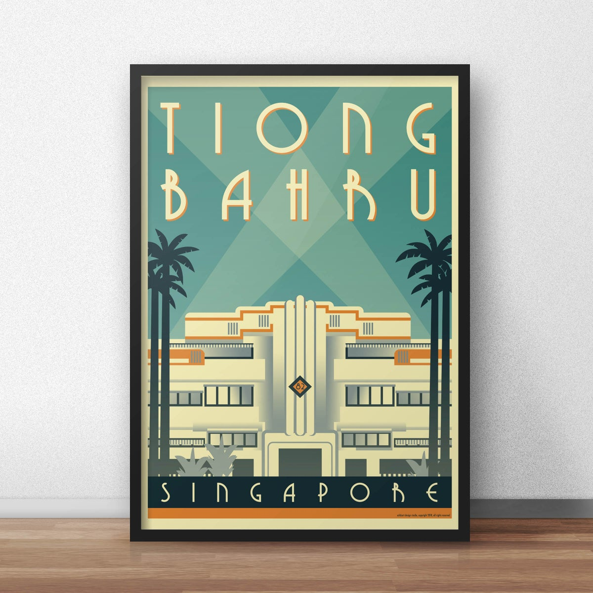 Image of Tiong Bahru Art Deco Poster (pre-order March 5th shipping start)