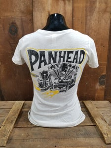 Image of Ladies Panhead Tee Shirt Oatmeal