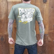 Image of Panhead T Shirt Heather Green 50/50 blend Track Tee Unisex