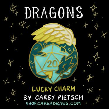 Image of Preorder: Lucky Charm Dragon hard enamel pin