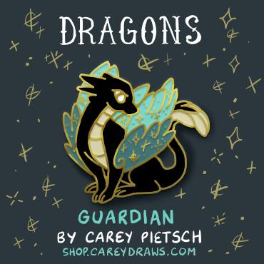 Image of Preorder: Guardian Dragon hard enamel pin