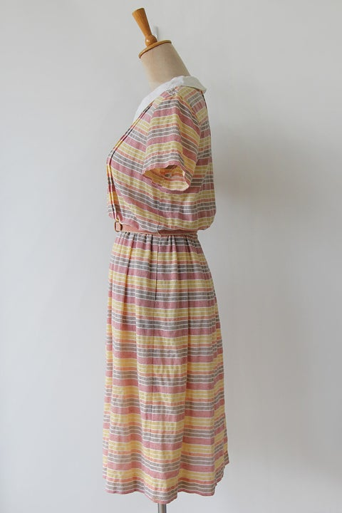 Image of SOLD Preppy Collared Striped Dress