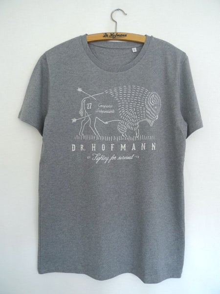 "Image of ""BUFFALO SOLDIER TEE"" - Organic Cotton - Grey Heather"