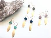 Image of Cosmic Drop Earrings - Aura Agate crystal BACK IN STOCK