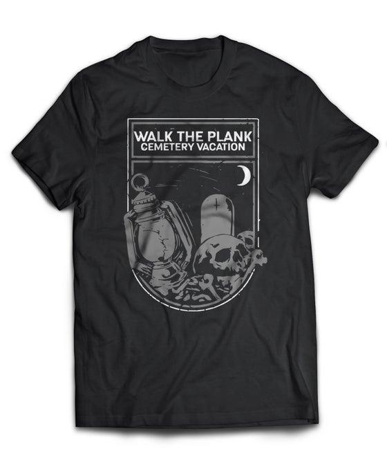 "Image of Cemetery Vacation ""Lantern"" T-Shirt (Black)"