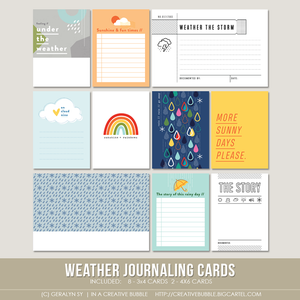 Image of Weather Journaling Cards (Digital)