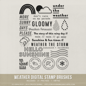 Image of Weather Stamp Brushes (Digital)