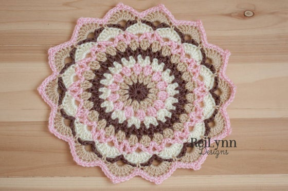 Image of Ivory, Bone, Taupe and Pink Mandala Layer