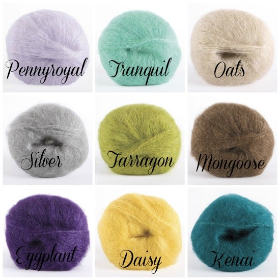 Image of Pearled Mohair Tie Back