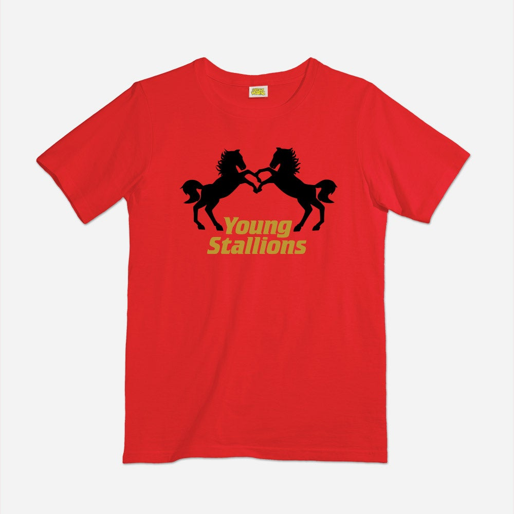 Image of Young Stallions tag team shirt