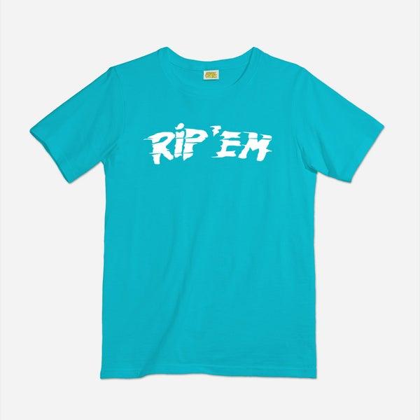 Image of Rip Em shirt (aqua)