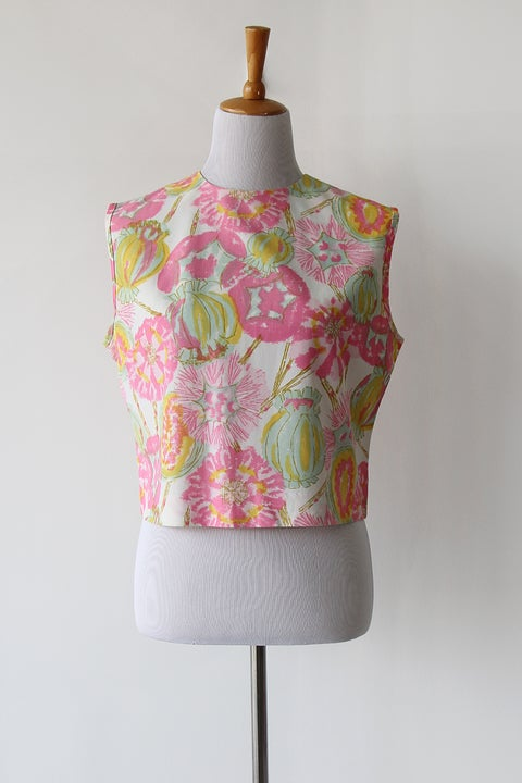 Image of SOLD Watercolour Blooms and Fruits Blouse