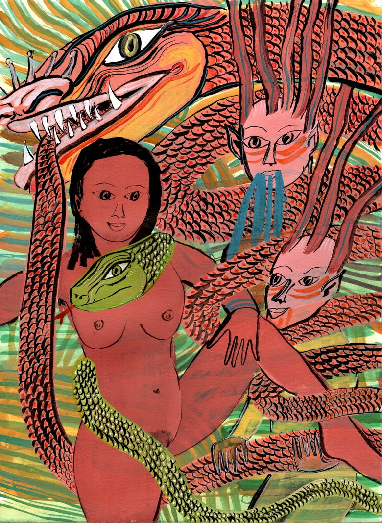 Image of Serpent Queen archival print 13 x 17 inches