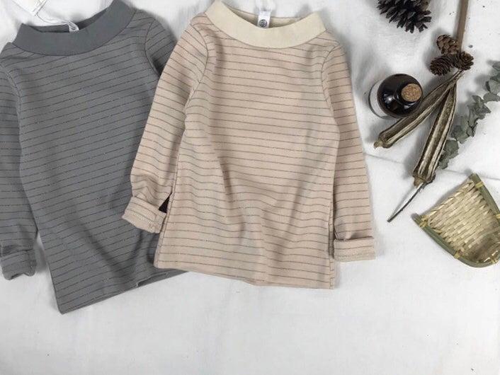 Image of Basic Striped Long Sleeve T