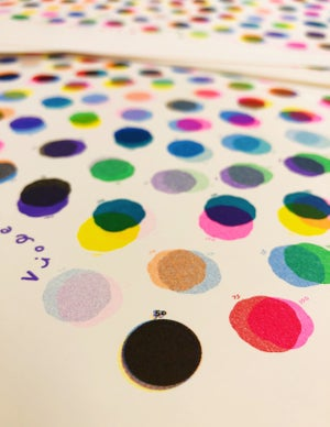 Image of 'My Riso Flavors' Large Poster Sized Color Chart
