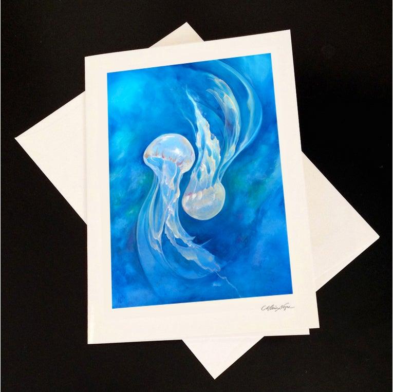 Image of Jellyfish 5-Pack Greeting Card Set