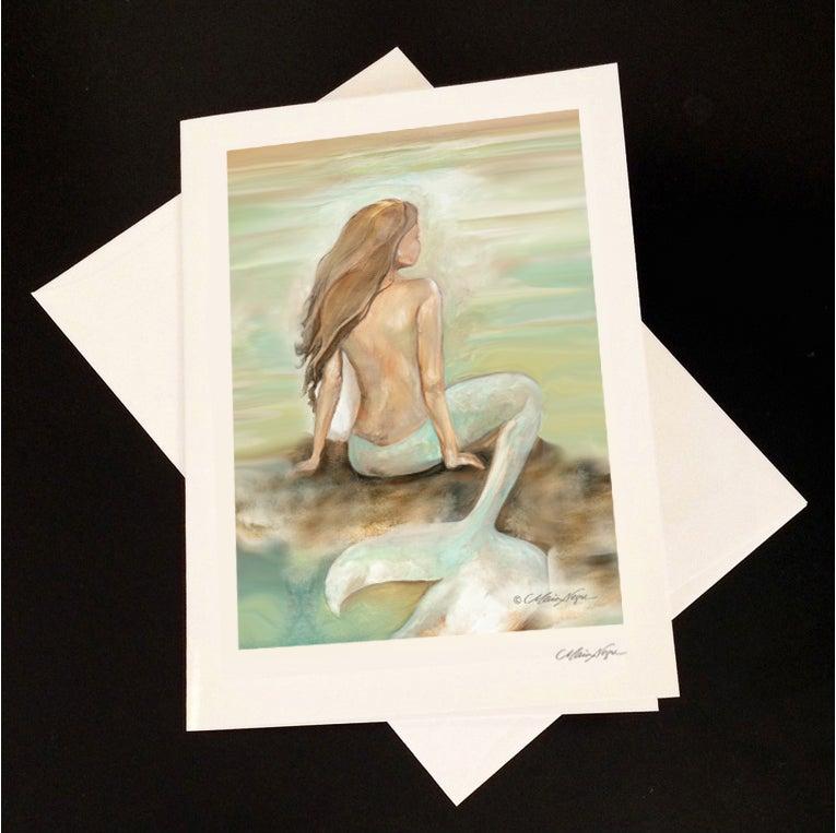 Image of Mermaid 7 5-Pack Greeting Card Set