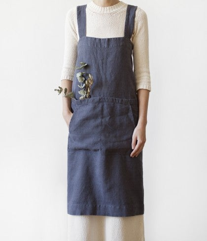 Image of Linen Pinafore Apron
