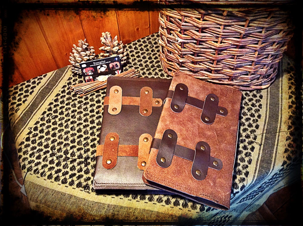 Image of Leather Book Wallet Sleeve - Dave Canterbury
