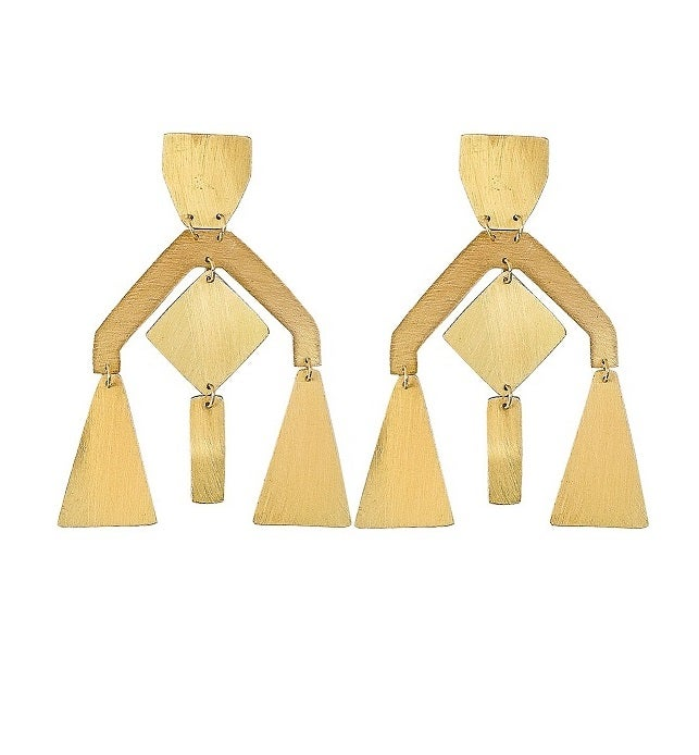 "Image of Brass Earrings ""Chandelier"""