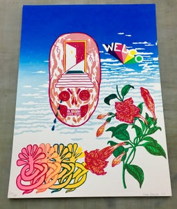 Image of WELCOM print by Brad Rohloff