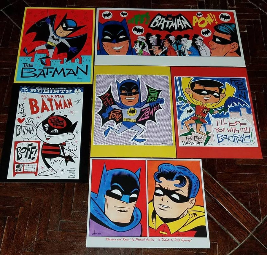 Image of BATMAN 6-PIECE ART PRINT SET - 8.5x11 and 8.5x17! LAST ONE!